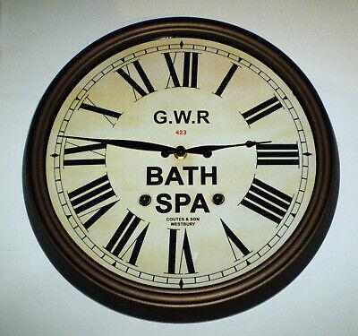 Great Western Railway GWR Victorian Style Clock, Bath Spa Station 3