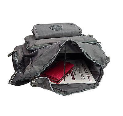 1729b3c880e82 ... Umhängetasche Schultertasche Nylon Sportliche Damen Neu Bag Street  Tasche ~ grau 5