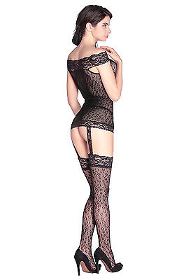 Sexy Ganzkörper Strumpfhose Bodystocking Catsuit Nachtwäsche Erotik Reizwäsche