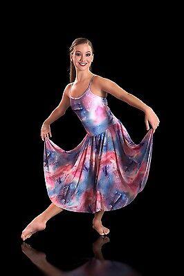 IN STOCK Contemporary Lyrical Dress Watercolour Swirl Dance Costume