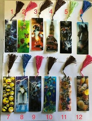 3 D Lenticular Assorted Bookmarks With Long Tassel Gift 2
