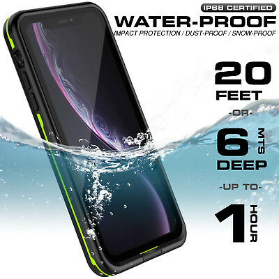 For Apple iPhone XR Xs Max Case Life Waterproof Dropproof Dirtproof Snowproof 4