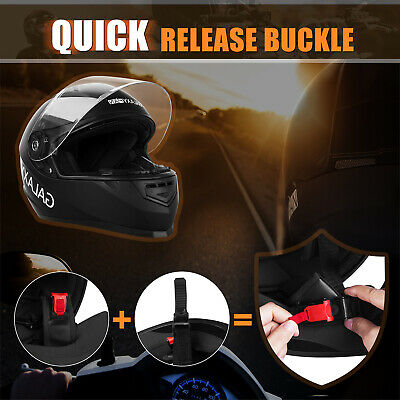 Safety Motorcycle Full Face Helmet Street Motorbike Helmets Racing + FREE GLOVES 6