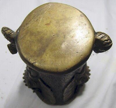 Brass Elephant Vase Container Double Head 15 Kg 14 Cm 5 Vintage