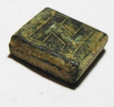 ZURQIEH -as6525- ANCIENT LATE ROMAN/ BYZANTINE BRONZE WEIGHT. 400 - 700 A.D