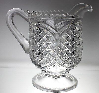 Antique American Brilliant Period Creamer PRESSED Glass 2