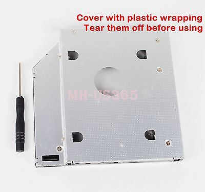 2nd Hard Drive HDD SSD Tray Caddy for Asus K43SJ K43SV F83VF G55VW-RS71 N46 N46V