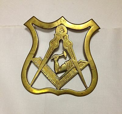 Masonic Emblem In Solid Cast Brass For Wall Door Or Gate 7