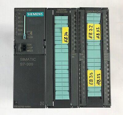 Siemens 6Es7 314-6Cf02-0Ab0 6Es7314-6Cf02-0Ab0 W/ 6Es7953-8Lf11-0Aa0 2