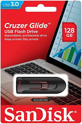 SanDisk USB 3.0 Cruzer Glide 16GB 32GB 64GB 128GB Flash Drive Thumb Stick Memory 7