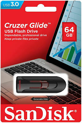 SanDisk USB 3.0 Cruzer Glide 16GB 32GB 64GB 128GB Flash Drive Thumb Stick Memory 6