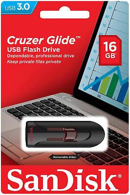 SanDisk USB 3.0 Cruzer Glide 16GB 32GB 64GB 128GB Flash Drive Thumb Stick Memory 4