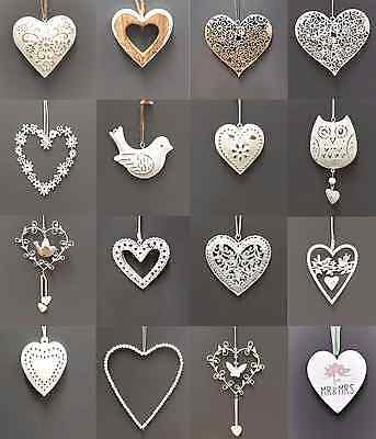 Vintage Style Shabby & Chic Wedding Hanging Hearts Heart Home Decoration Gift 5