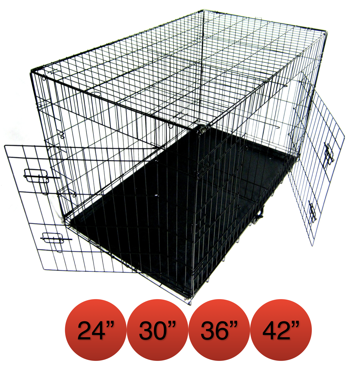 Folding Metal Dog Cage By Mr Barker Puppy Training Crates 5 sizes 24-42 Inch 4