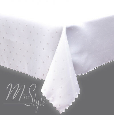 Polka Dot Jacquard Tablecloth Small Medium Large Rectangle Stain Resistant 2