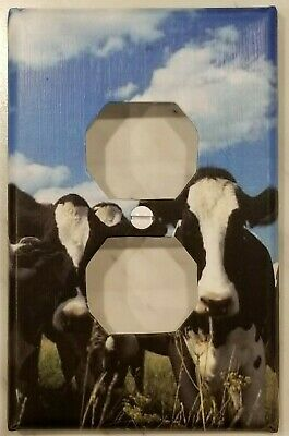 Black and White Cows - Outlet Cover - FREE Shipping 2