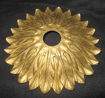"6 1/2"" Fancy Solid Brass Chandelier Ceiling Canopy Ornate Sunflower Floral 4"