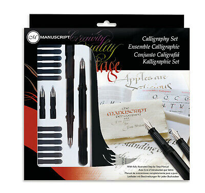 Manuscript Calligraphy Masterclass Pen Gift Set With Nibs Ink & Guide Book 2