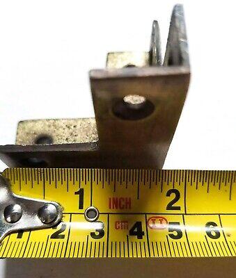 4 Square Antique Industrial Solid Brass Box Chest Corner Bracket, Brace,Pcs. #X3 6