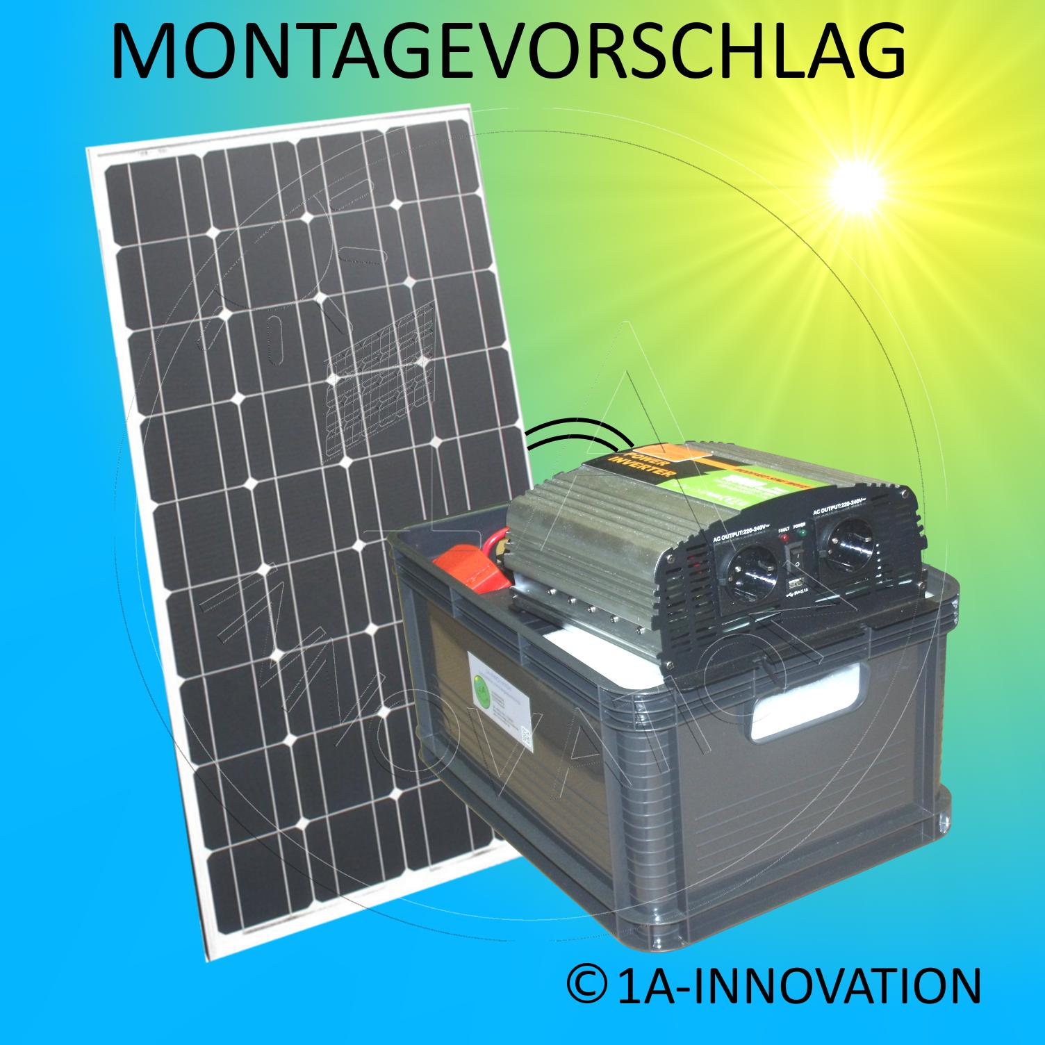 Solarenergie 1000w Solaranlage Komplettpaket 220v 4x Akku 280ah Solarpanel 2000w Watt 24v