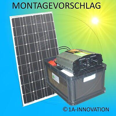 Komplett 220V Solar Set Steckdose 100Ah Akku Batterie 100 1000W Inselanlage Watt 2