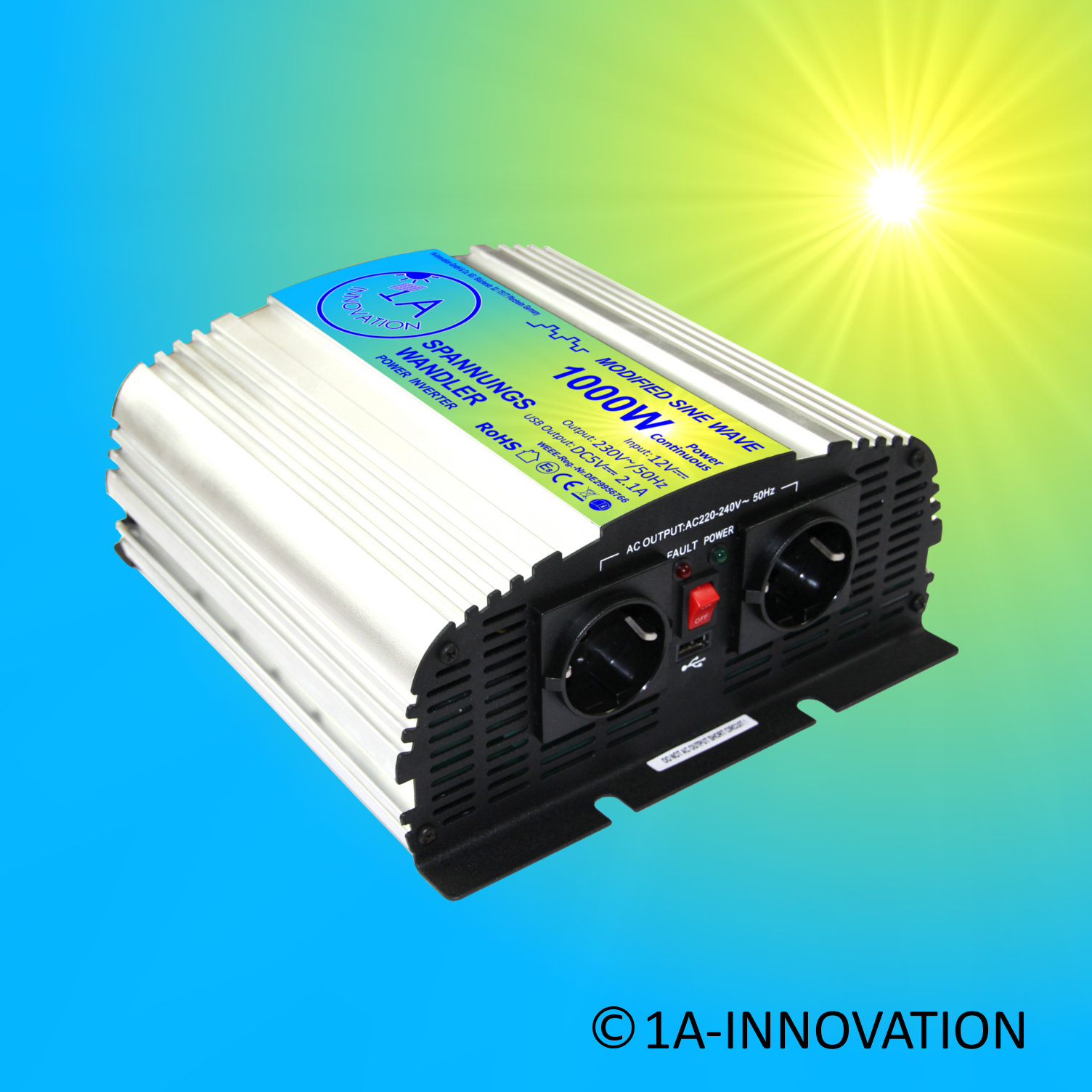 100W Solaranlage Komplett 220V + Akku 100Ah Solarpanel 1000W Camping Watt Garten 3