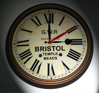 GWR Railway Time, Victorian Style Dual Time Clock, Bristol Temple Meads. 3