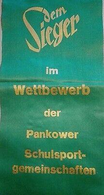 Große 60cm Sieger Auszeichnung Berlin Pankow DDR Sport Junge Pioniere Wimpel FDJ
