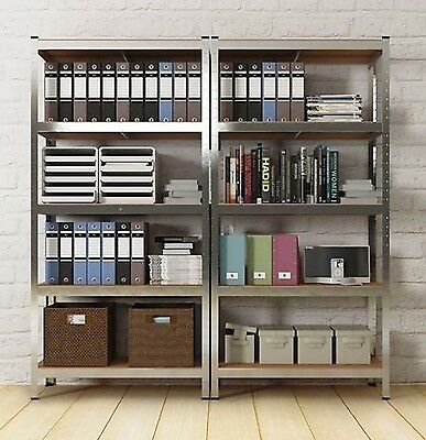 Metal Book Shelf Kitchen Tower Rack Office Unit Tier Shelves Industrial Bookcase