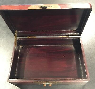 Chinese Rosewood Box with Jade Pieces on Top 7