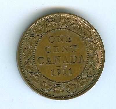 Canada 1911 Large Cent--Au/Unc 2
