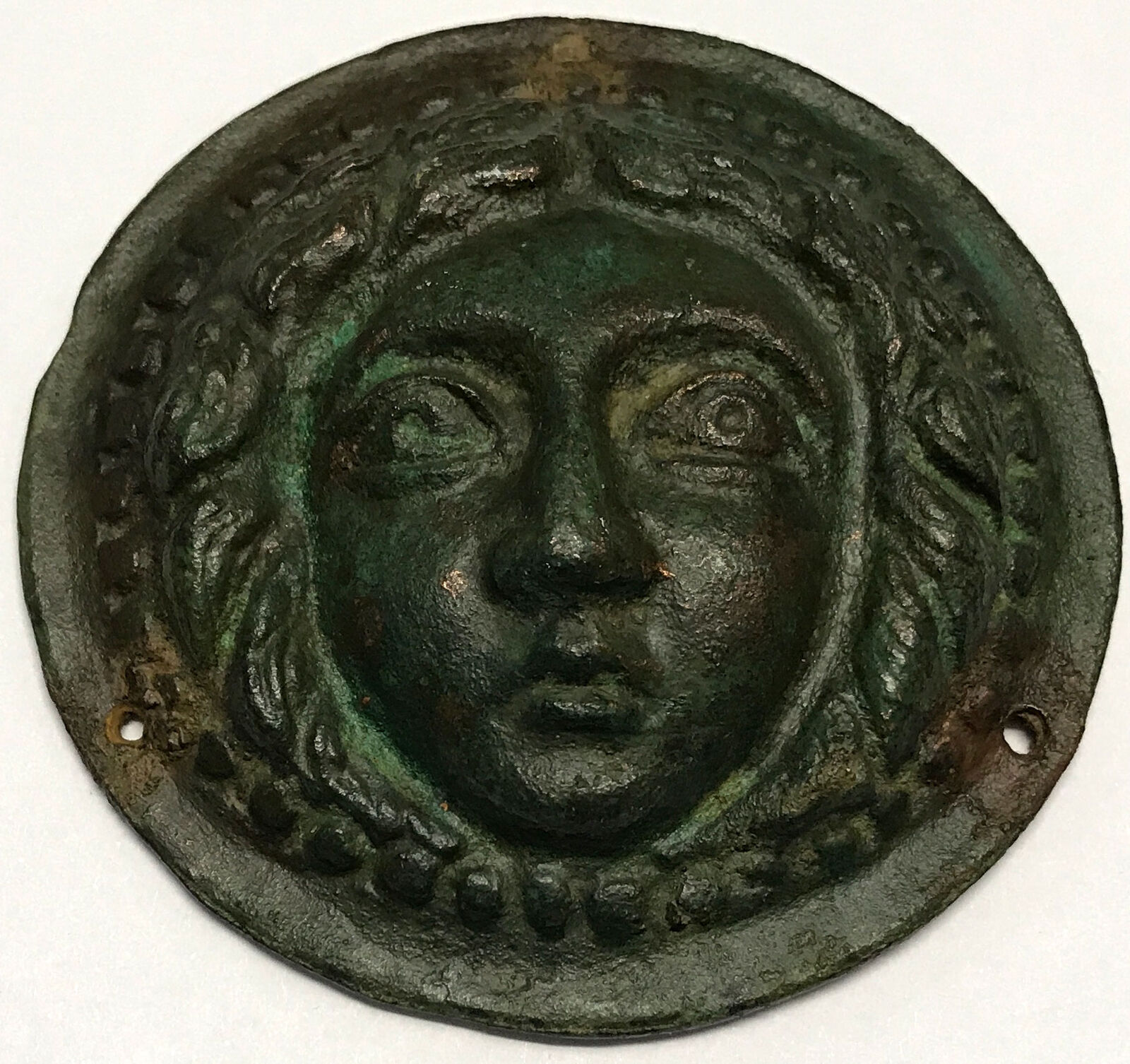 100BC Authentic Ancient Roman MEDUSA GORGON likely for ARMOR Artifact i66776 4