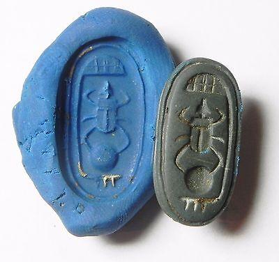 Zurqieh - Af817- Ancient Egypt , New Kingdom Stone Scarab. 1400 B.c 2