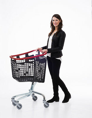Red Shopping Trolley Small Supermarket Cart Araven Loop Trolley 100L 6