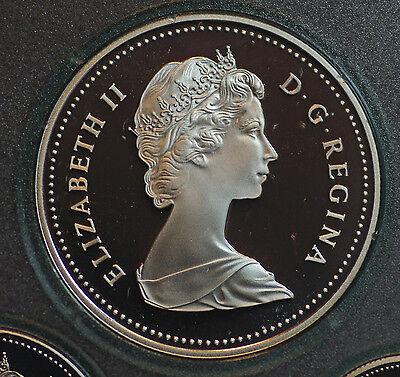 1986 CANADA $1 Railway and Vancouver centennial commemorative silver dollar 2