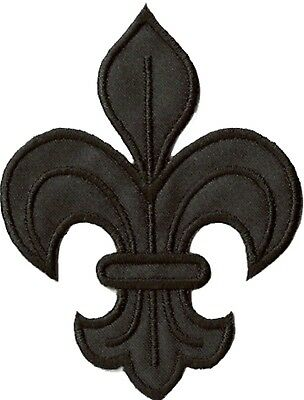 Écusson patche fleur de lys médiéval noir patch déguisement 2