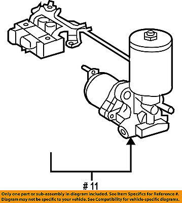 Toyota Oem Abs Pump And Motor Assembly 4707048020