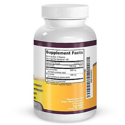 Berberine HCl 500mg Premium - 120 capsules - 2 Month Supply 4
