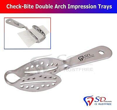 Abdrucklöffel Check Bite - Check Bite Tray - Edelstahl SD Dental Instruments NEW 6