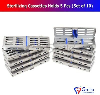 10X Sterilization Cassette Rack Tray Holds 5 Dental Surgical Instruments FDA CE 2