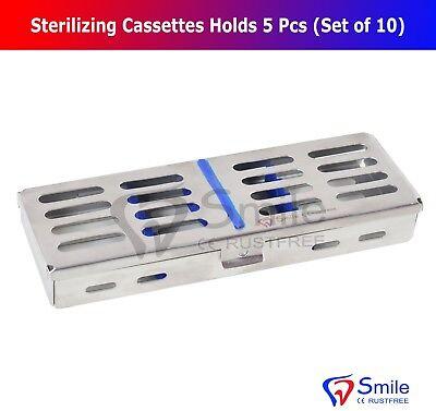10X Sterilization Cassette Rack Tray Holds 5 Dental Surgical Instruments FDA CE 4