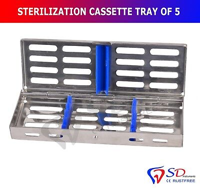 Smile® Sterilization Cassette Rack Tray Hold 5 Dental Instruments Autoclave CE