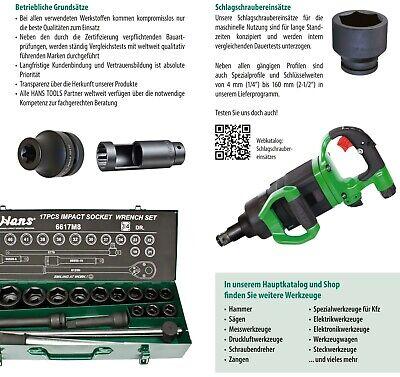 Druckluft Schlagschrauber Nuss Einsatz Lang 1//2 SW 19 mm
