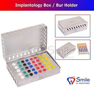 40 Silicone Pads Dental Implantology Box - Burs Holder Endo Box Dental Implants