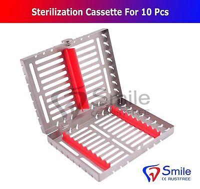 Sterilization Cassette Rack Tray Holds 10 Dental Surgical Instruments Smile 2