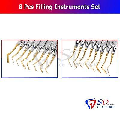 8 X Dental Composite Filling Restorative Plastic Placement Instruments Lab Tools 2