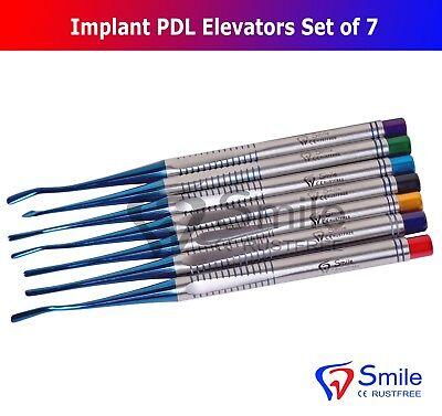 7X Dental Implant Proximators PDL Luxating Elevators Surgery Dental Instruments 7