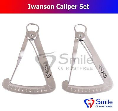 Crown Caliper Gauge Wax & Metal Iwanson Dental Lab Technician Tools Smile UK