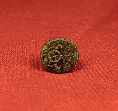 "Nice Medieval Seal Stamp With ""P F"" Monogram. 16. Century Seal 4"