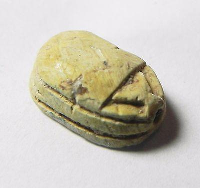 Zurqieh -Af709- Ancient Egypt ,2Nd Intermediate Stone Scarab. 1782 - 1570 B.c 2